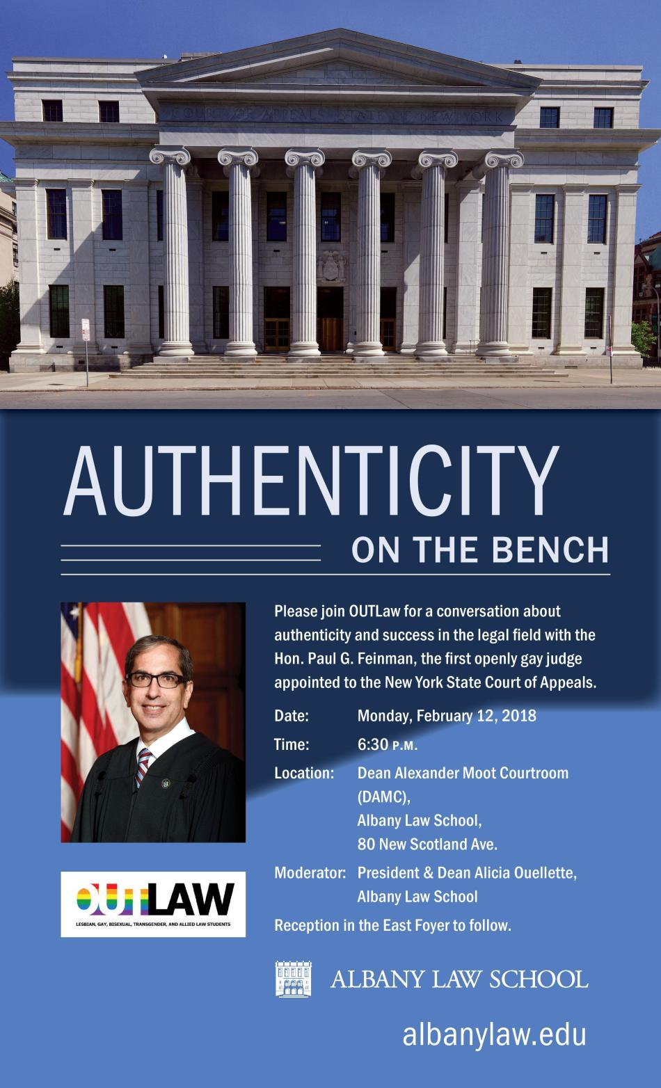 Authenticity on the Bench - Pre Law Flyer