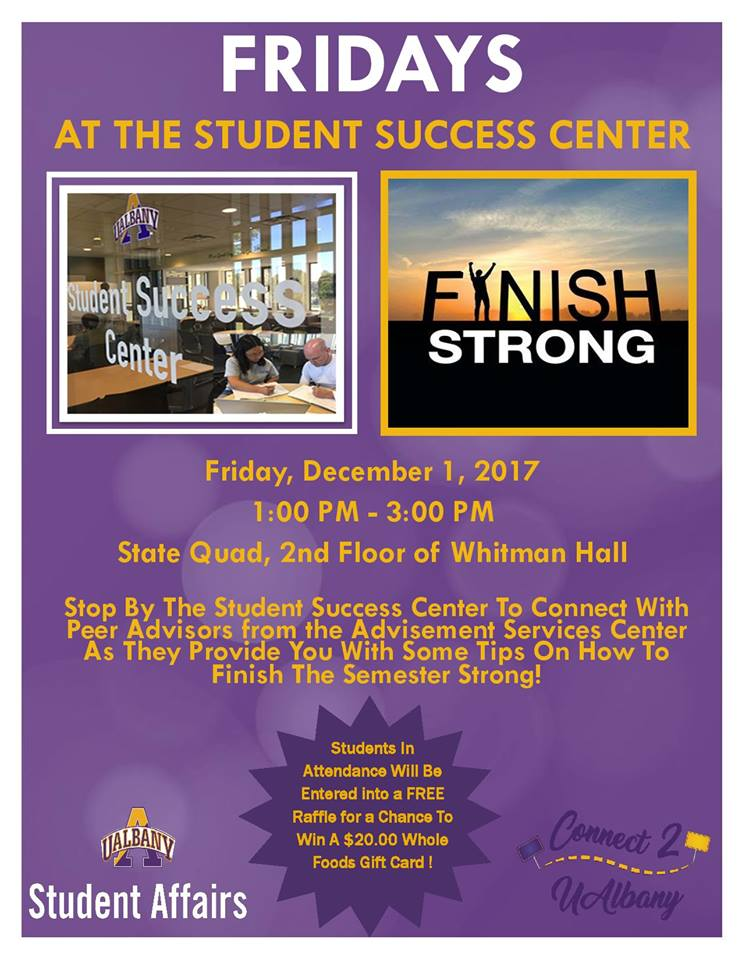 Meet with Peer Advisors at the State Quad Success Center 12/1/2017