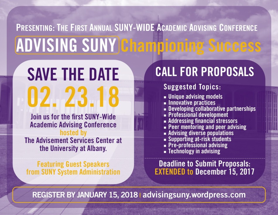 Advising SUNY Conference Flyer