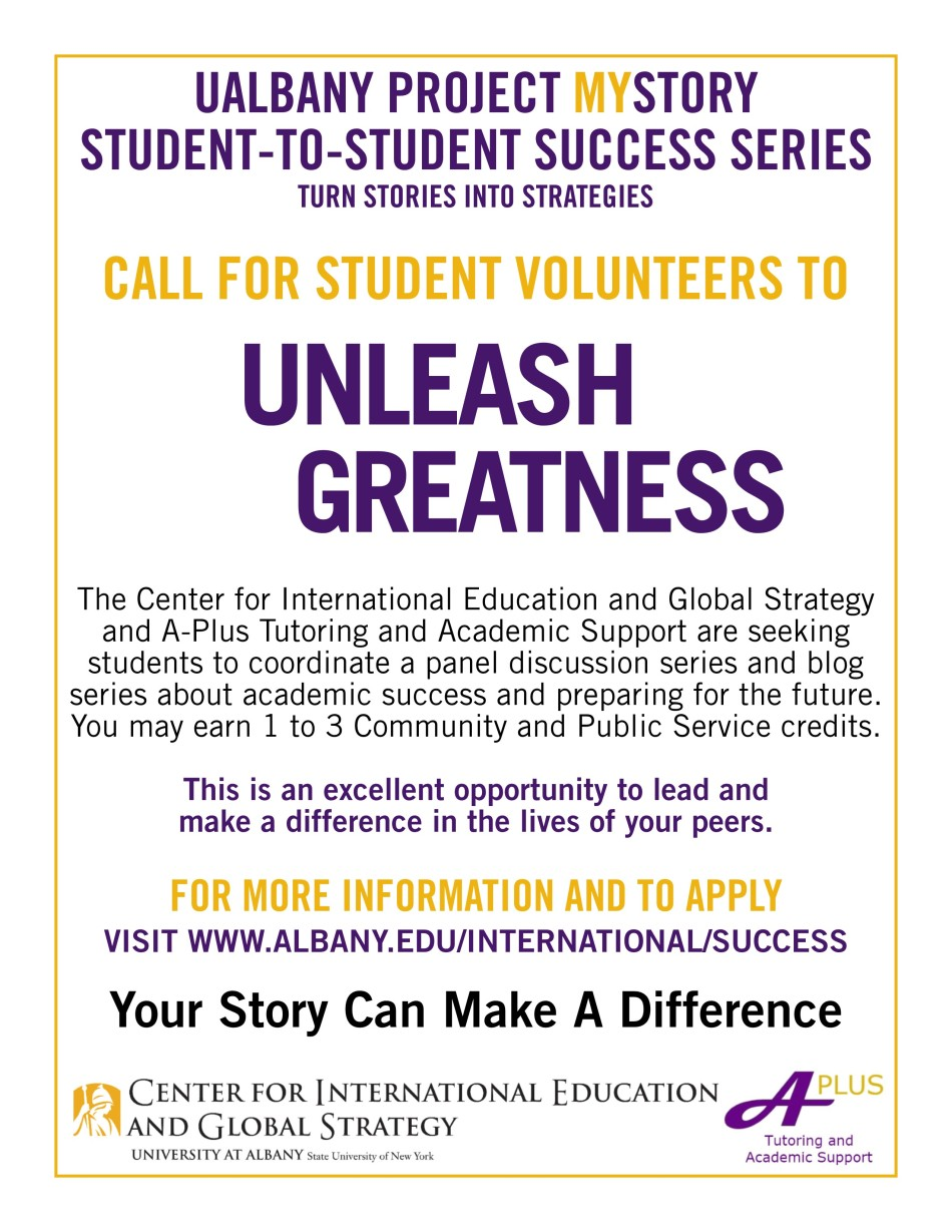 Call for Volunteers Flyer - MyStory Student-to-Student Series