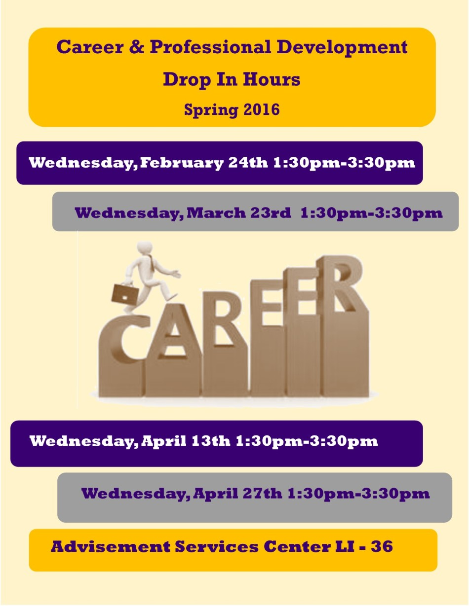 Career Drop In Hours  SP16