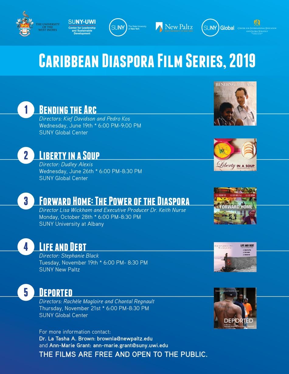 SUNY Caribbean Diaspora Film Series Poster