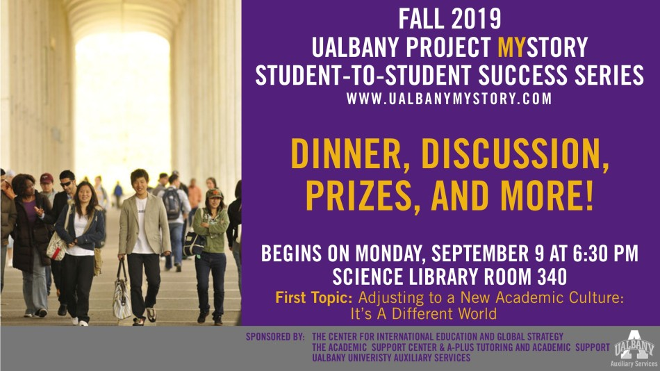 Flyer for the 1st Student-to-Student Success Series