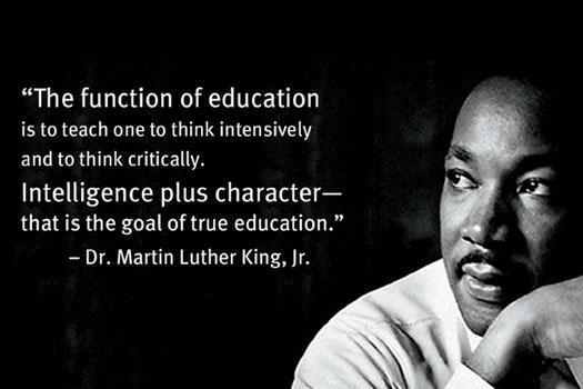 MLK Day Poster with Quote