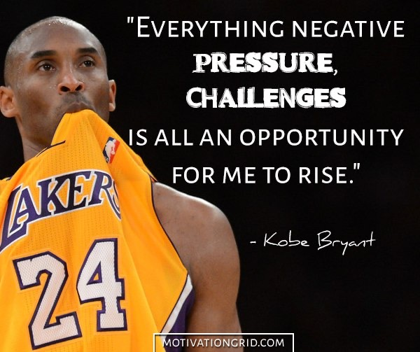 Pic of Kobe Bryant with Quote by motivationgrid.com
