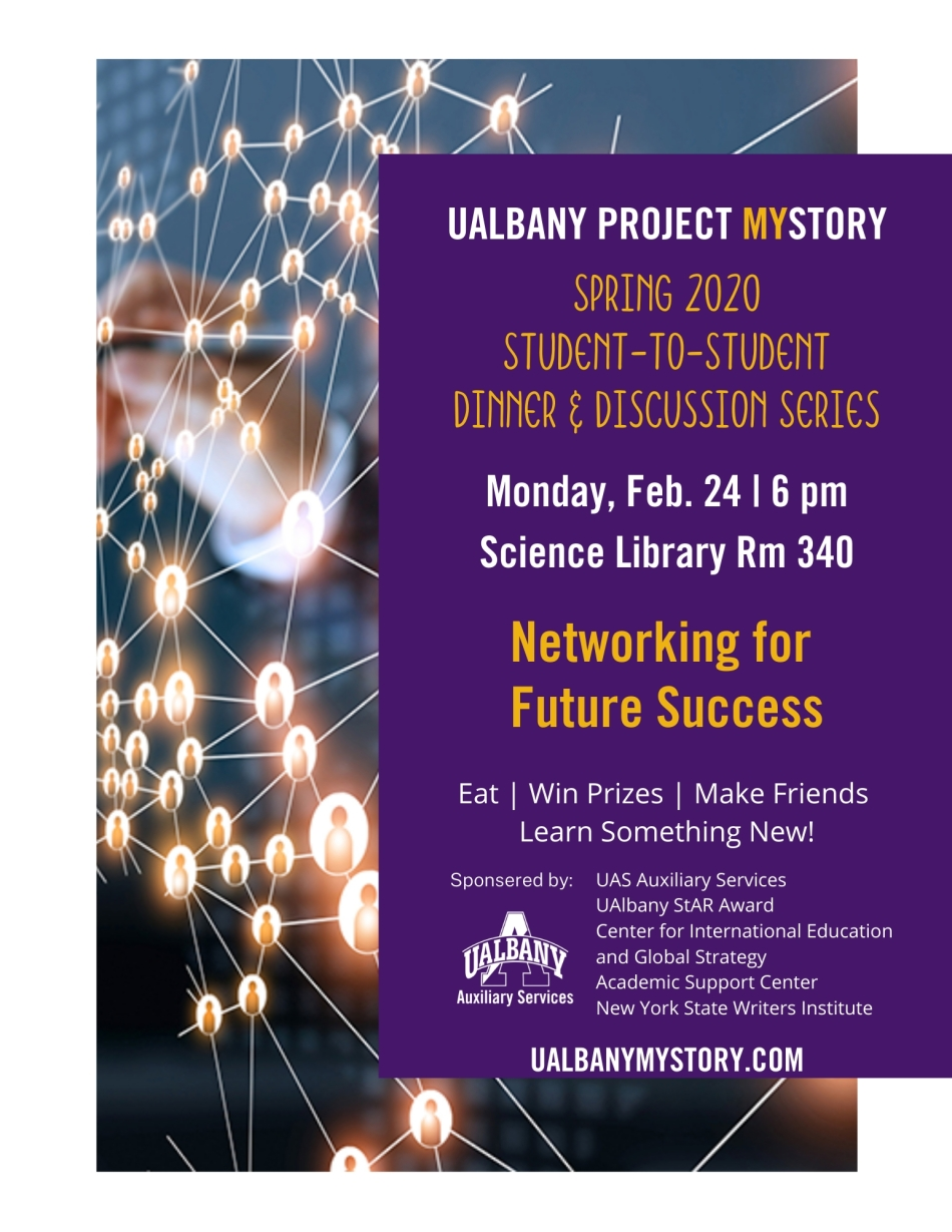 Flyer for the 2/24/20 MyStory event