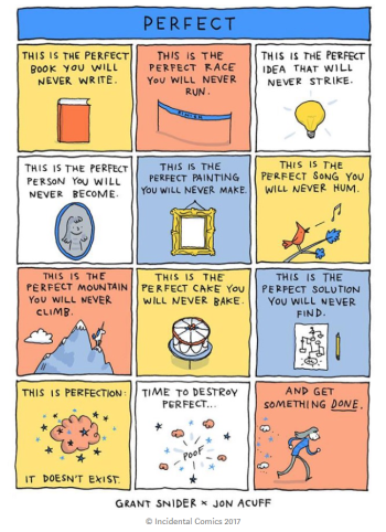 Perfect Comic by Grant Snider and Jon Acuff, Incidental Comics, 2017