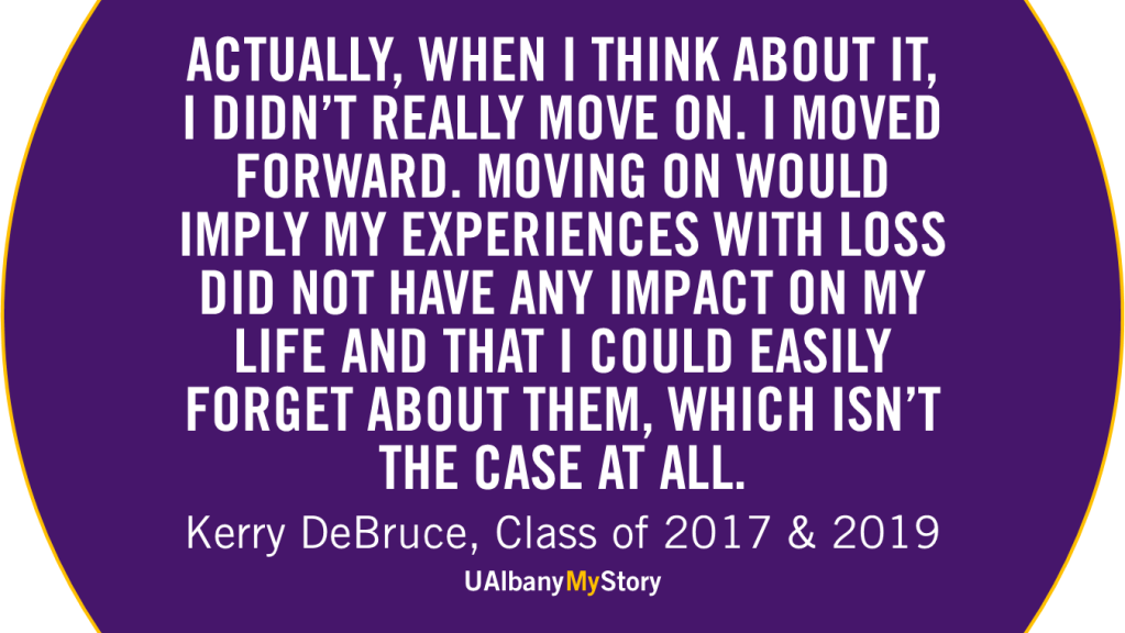 Quote by UAlbany Alumna on Grief